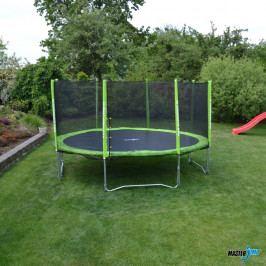 Set trampolína MASTERJUMP Super 365 cm + ochranná síť + schůdky