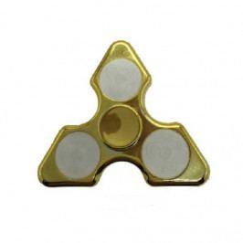 Fidget Spinner Me trojhranný s led - zlatý