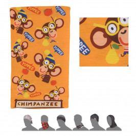 Sensor tube thermo Chimpanzee dětský šátek multifunkční žlut