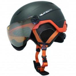 Lyžařská přilba BLIZZARD Double Visor 56-59 - černo-oranžová