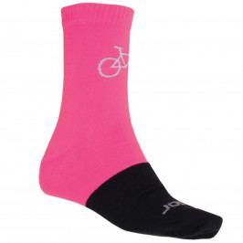 Ponožky SENSOR Merino Wool Tour růžovo-černé - vel. 6-8