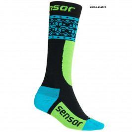 SENSOR ponožky THERMOSNOW NORWAY dětská-modrá