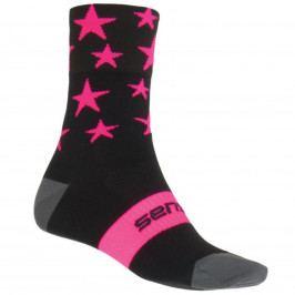 Sensor STARS ponožky černá-růžová