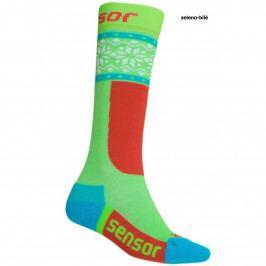 Sensor ponožky THERMOSNOW NORWAY dětská zelená-bílá