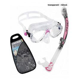 Potápěčský set CRESSI Marea+Alpha Ultra Dry - transparent růžová