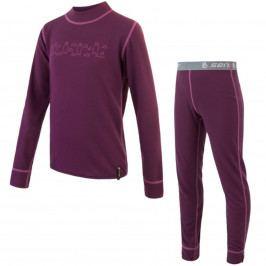 SENSOR Dětský set Double Face Bears triko s dlouhým rukávem spodky fialová