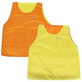 Rozlišovací vesta SPOKEY Shiny D - oboustranná, žluto-oranžová