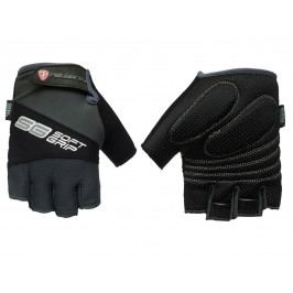 Cyklo rukavice POLEDNIK Soft Grip pánské velikost S - černé