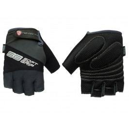 Cyklo rukavice POLEDNIK Soft Grip pánské velikost XXL - černé