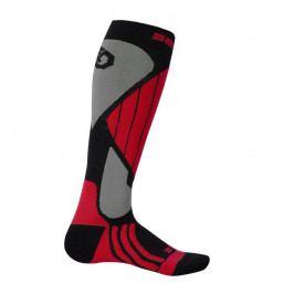 Ponožky Sensor Snow Pro Velikost ponožek: 43-46 / Barva: šedá/červená