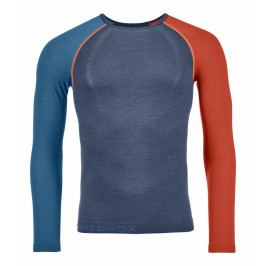 Pánské triko Ortovox 120 Competition Light Long Sleeve M Velikost: S / Barva: modrá