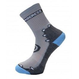 Dětské ponožky Progress DT KBS 26PT Kids Bamboo Sox Velikost ponožek: 35-38 / Barva: šedá/modrá