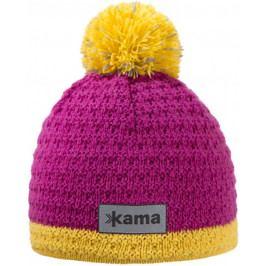 Dětská pletená Merino čepice Kama B71 Velikost: M / Barva: růžová