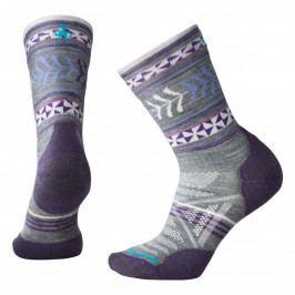Dámské ponožky Smartwool W Phd Outdoor Light Pattern Crew Velikost ponožek: 42-45 / Barva: šedá