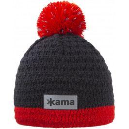 Dětská pletená Merino čepice Kama B71 Velikost: M / Barva: šedá