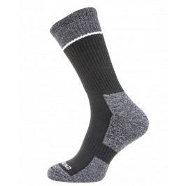 Ponožky SealSkinz Solo Quickdry Mid Length sock Velikost ponožek: 36-38 / Barva: černá