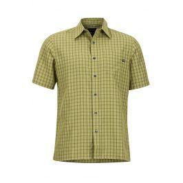 Pánská košile Marmot Eldridge SS Velikost: L / Barva: zelená