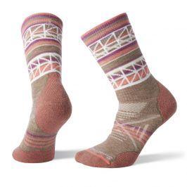 Dámské ponožky Smartwool PhD Outdoor Medium Pattern Crew Velikost ponožek: 42-45 / Barva: šedá/oranžová