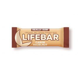 Tyčinka Lifefood Lifebar karobová s oříšky BIO RAW 47 g