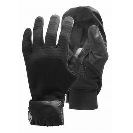 Rukavice Black Diamond Wind hood gridtech gloves Velikost rukavic: L / Barva: černá