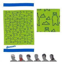Dětský multifunkční šátek Sensor Tube Bears Obvod hlavy: univerzální cm / Barva: zelená