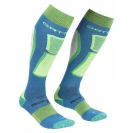 Pánské ponožky Ortovox Ski Rock'n'wool Socks Velikost ponožek: 42-44 / Barva: modrá/zelená