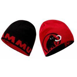 Čepice Mammut Logo Beanie Barva: černá/červená