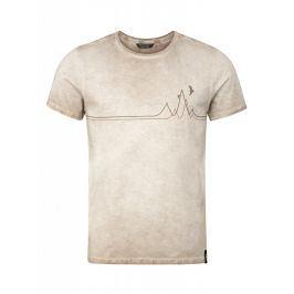 Pánské triko Chillaz Rigi Mountain Line Velikost: S / Barva: béžová