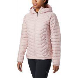 Dámská bunda Columbia Powder Lite Hooded Jacket Velikost: M / Barva: růžová