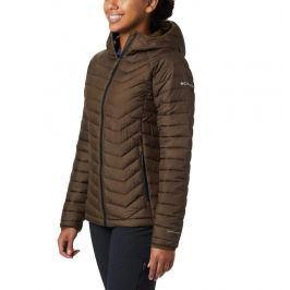 Dámská bunda Columbia Powder Lite Hooded Jacket Velikost: L / Barva: zelená