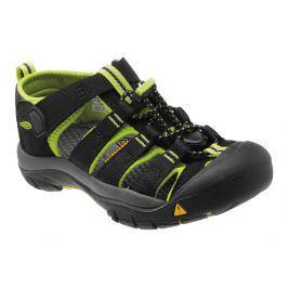 Juniorské sandály Keen Newport H2 JR Dětské velikosti bot: 34 (2) / Barva: black/lime green
