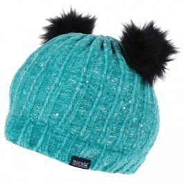 Dětská zimní čepice Regatta Hedy Lux Hat II Dětská velikost: 4-6 let / Barva: tyrkysová