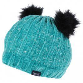 Dětská zimní čepice Regatta Hedy Lux Hat II Dětská velikost: 7-10 let / Barva: tyrkysová