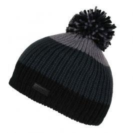 Dětská zimní čepice Regatta Davin Hat II Dětská velikost: 7-10 let / Barva: černá/šedá