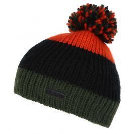 Dětská zimní čepice Regatta Davin Hat II Dětská velikost: 7-10 let / Barva: zelená/oranžová