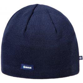 Pletená Merino čepice Kama A02 Obvod hlavy: 50–56 cm / Barva: modrá