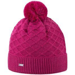 Pletená Merino čepice Kama A124 Barva: růžová