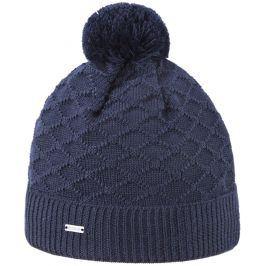 Pletená Merino čepice Kama A124 Barva: tmavě modrá