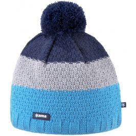 Pletená Merino čepice Kama A126 Barva: modrá