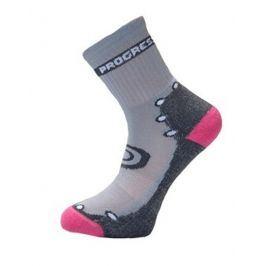 Dětské ponožky Progress DT KBS 26PT Kids Bamboo Sox Velikost ponožek: 30-34 / Barva: šedá/růžová