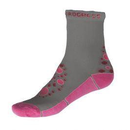Dětské ponožky Progress Kids Summer Sox 26PS Velikost ponožek: 35-38 / Barva: šedá/růžová
