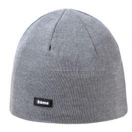 Pletená Merino čepice Kama A02 Obvod hlavy: 56–62 cm / Barva: šedá
