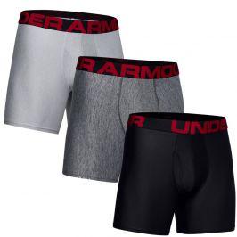 Pánské boxerky Under Armour Tech 6In 3 Pack Velikost: M / Barva: šedá/černá