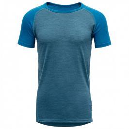 Devold Dětské triko Breeze Junior T-shirt Dětská velikost: 164 / Barva: modrá
