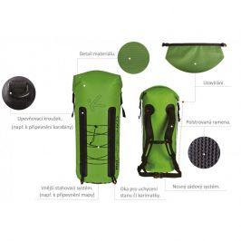 Vodácký batoh Hiko Trek 40 l Barva: zelená