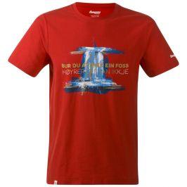 Pánské triko Bergans Foss Tee Velikost: S / Barva: červená