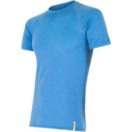 Pánské funkční triko Sensor Merino Wool Active kr.r. Velikost: S / Barva: modrá