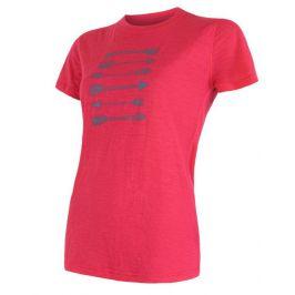 Dámské triko Sensor Merino Wool PT Šípy Velikost: L / Barva: magenta