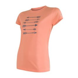 Dámské funkční triko Sensor Coolmax Fresh Šípy kr.r. Velikost: L / Barva: oranžová