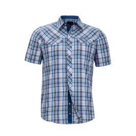 Pánská košile Marmot Riggs SS Velikost: S / Barva: modrá